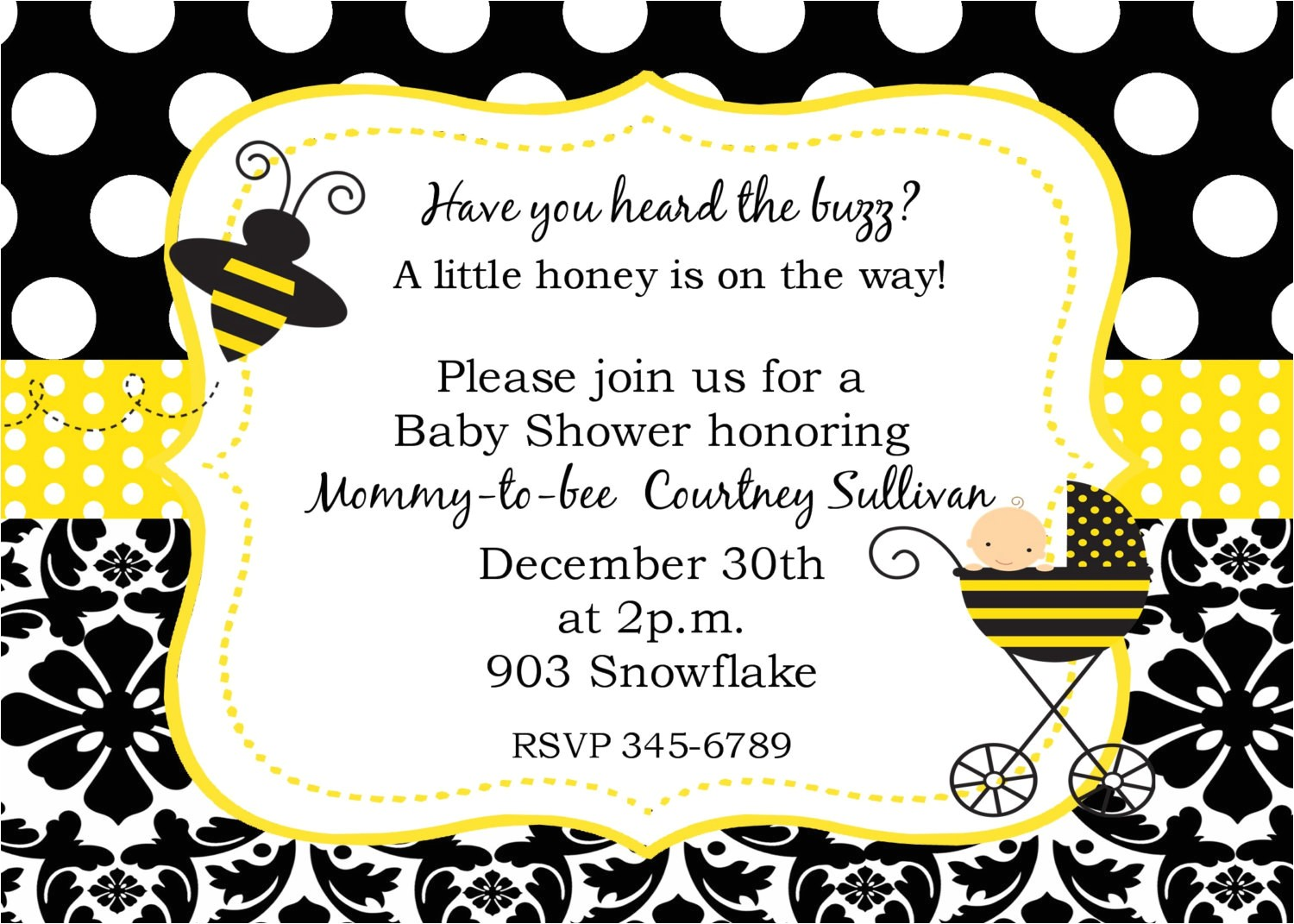 bumble bee baby shower ideas