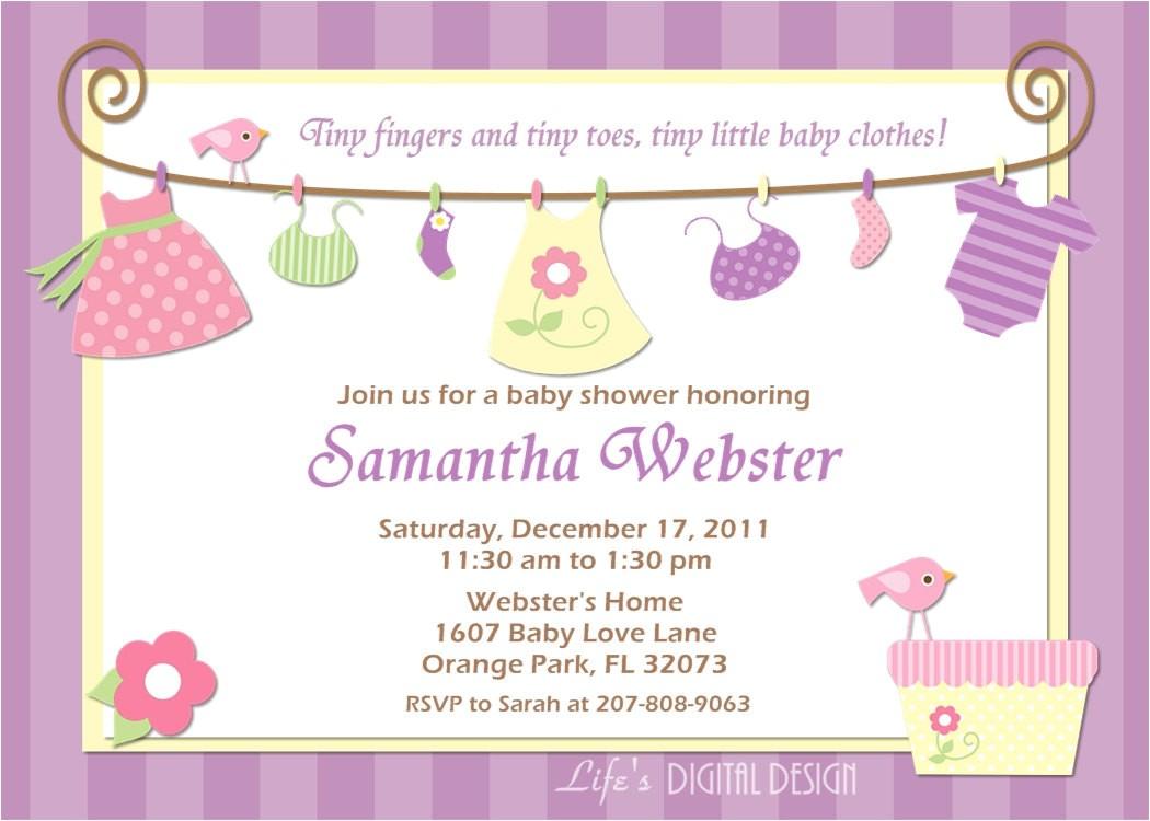 cheap baby girl shower invitations