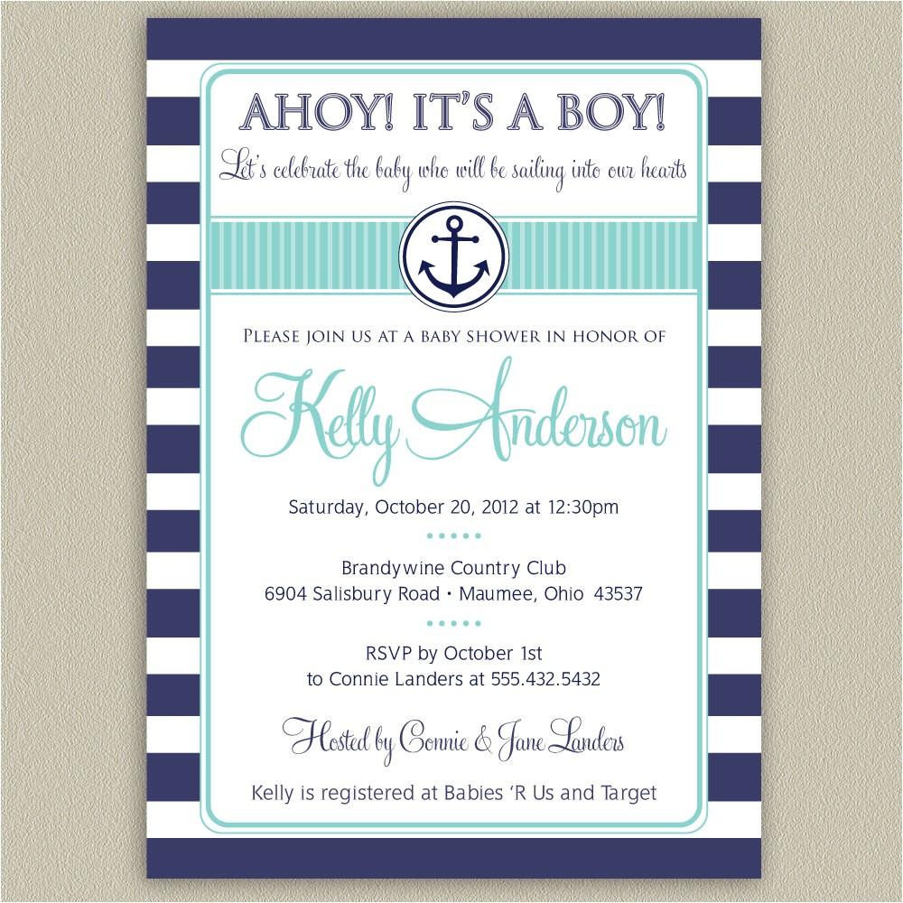 nautical baby shower invitations cheap
