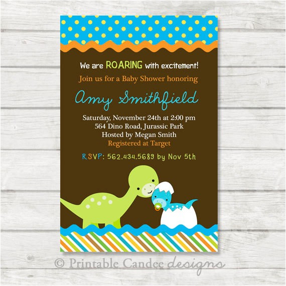 dinosaur baby shower invitation dinosaur