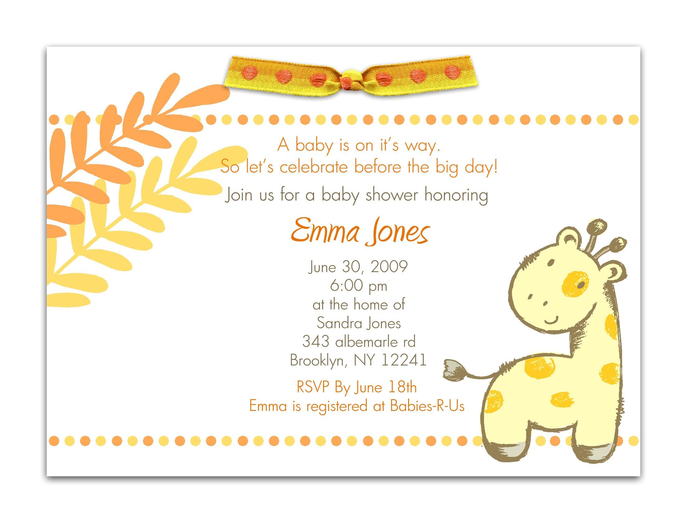 baby shower invitations maker