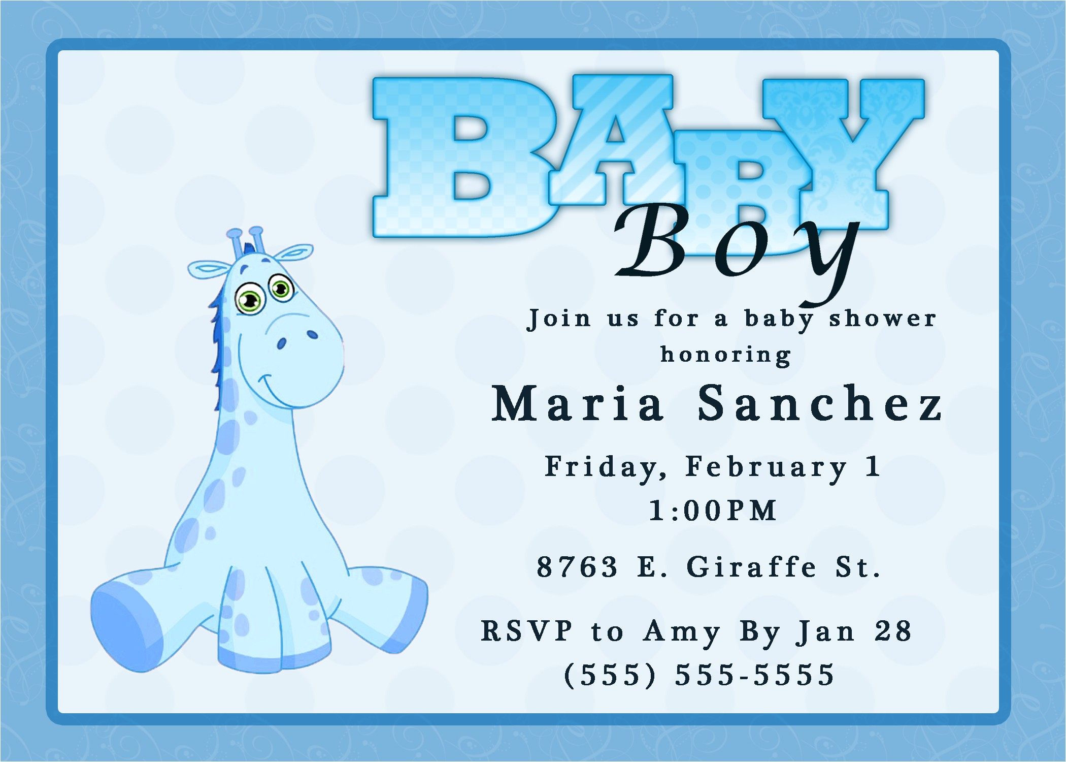 baby boy shower invitation wording ideas
