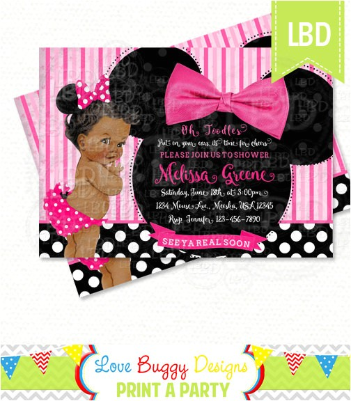 minnie mouse baby shower invitation baby