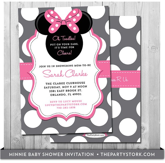 minnie mouse baby shower invitation printable 6
