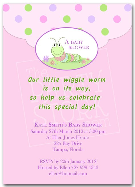 baby shower invite wording for girl