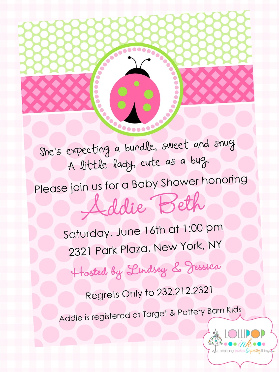 wording for baby girl shower invitations