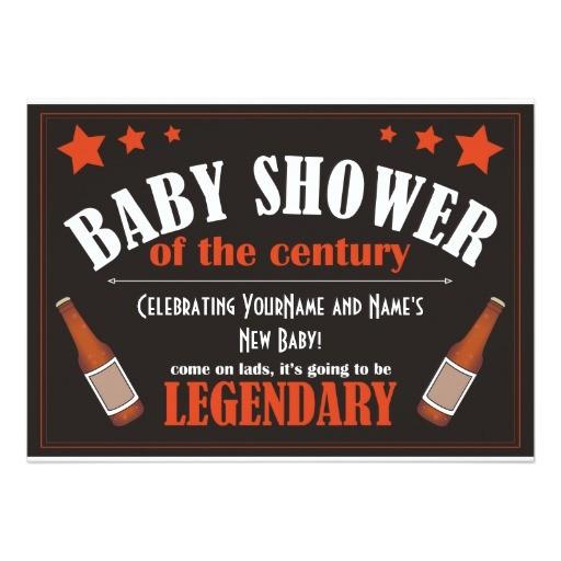 baby shower for men invitation