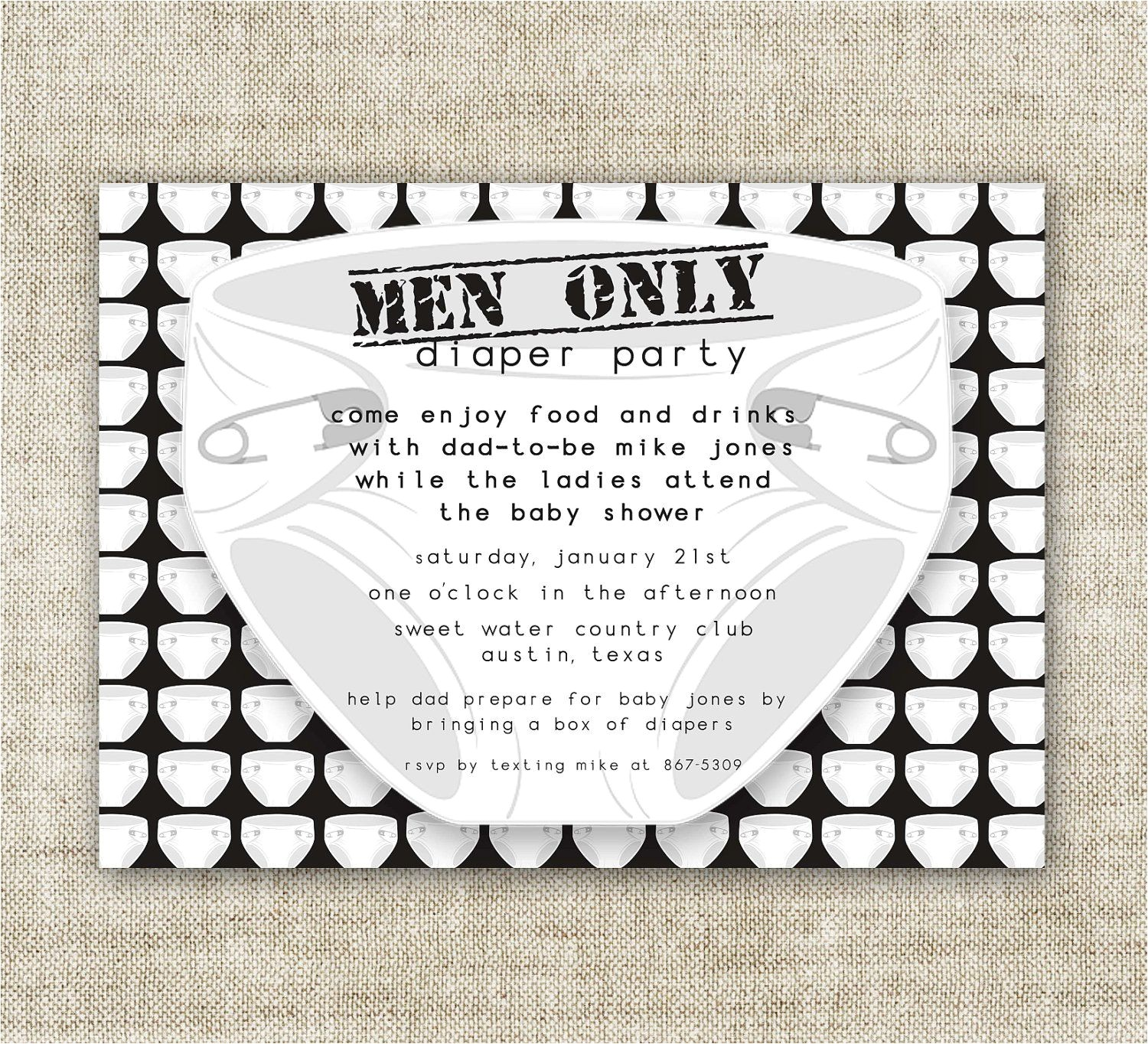 Baby Shower Invitations for Men Diaper Party Men Ly Baby Shower Invitations Chuggies