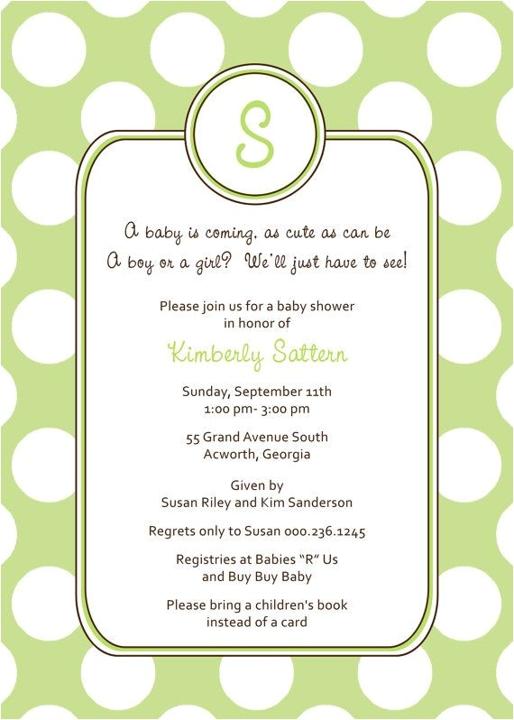 unknown gender baby shower invitationstml
