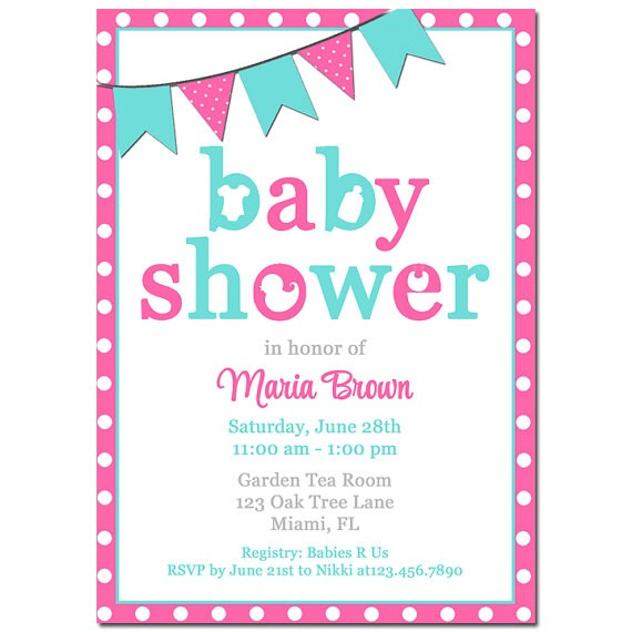 baby shower invitation printable printed free