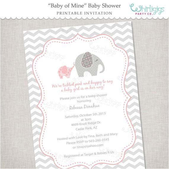 elephant baby shower invitation printable diy 12