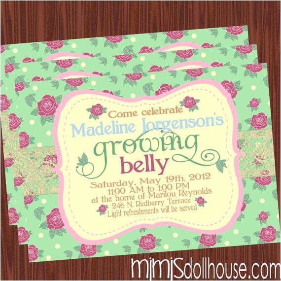 Baby Shower Invitations Garden theme Garden theme Baby Shower Invitations