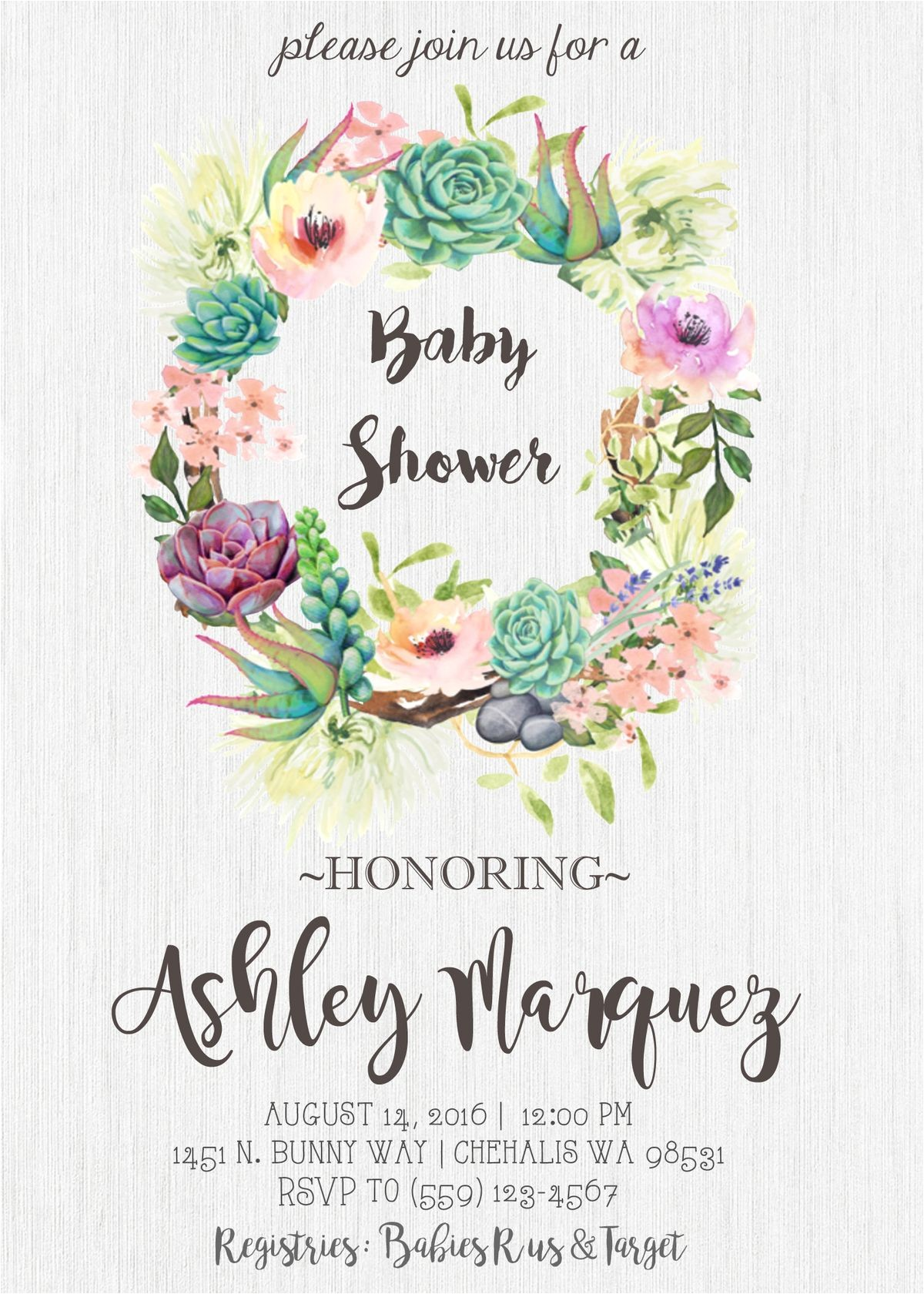 garden themed baby shower invitations tags baby show