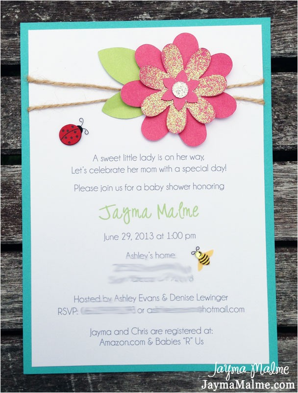 garden theme baby shower invitations