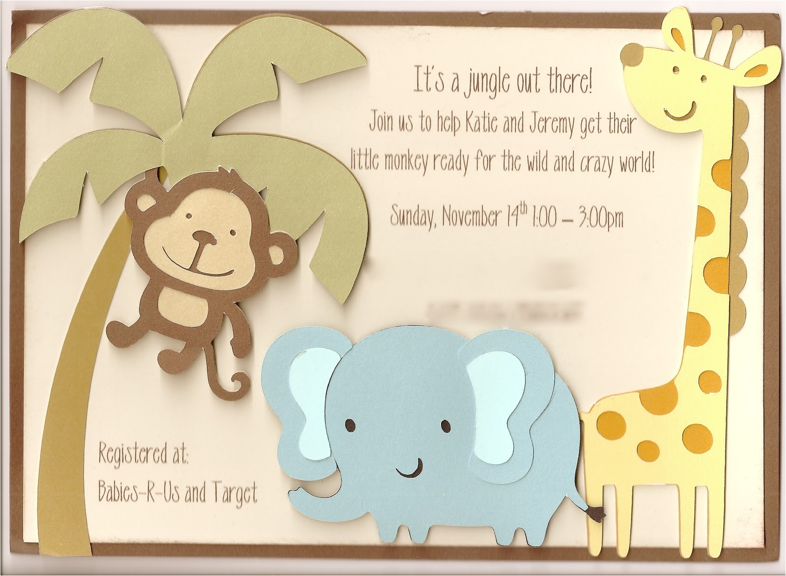 katies jungle baby shower