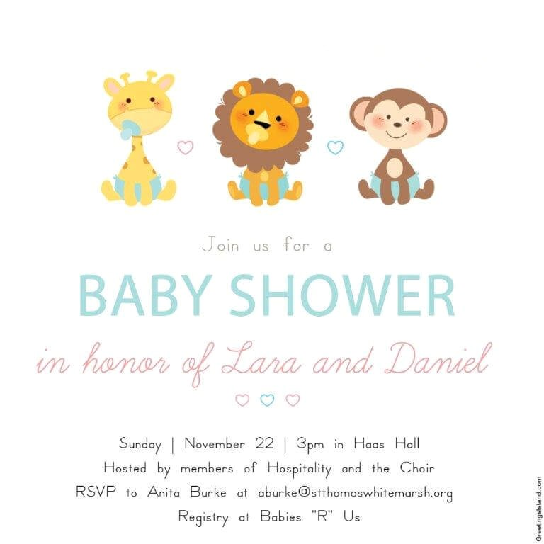 baby shower in honor of lara and daniel