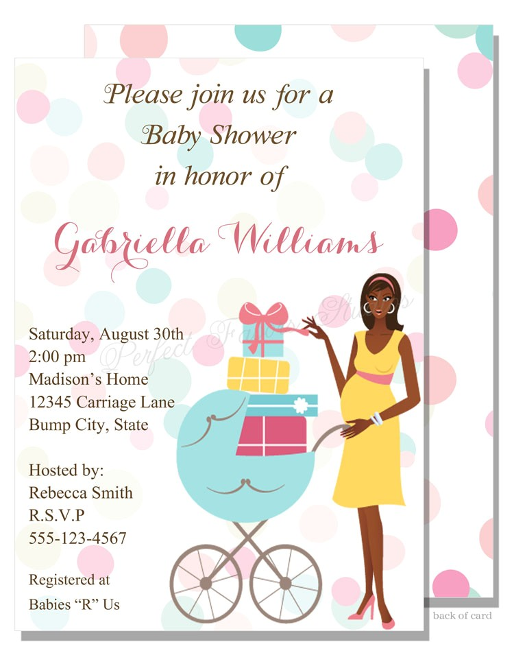 showered with ts baby shower invitation