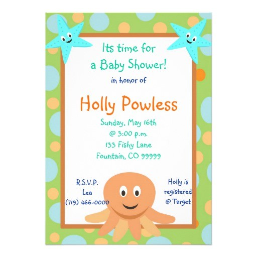 Baby Shower Invitations In Honor Of Undersea2 Its Time fora Baby Shower In Honor Custom