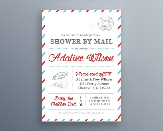 shower by mail invitation service baby