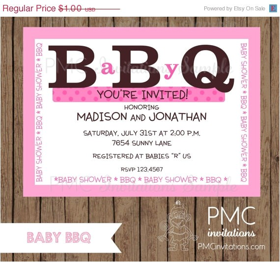 baby bbq shower invitations boy girl 3