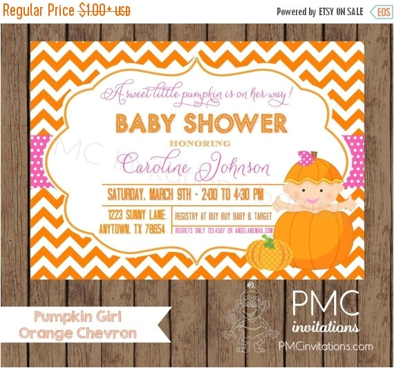 custom printed girl pumpkin baby shower 5