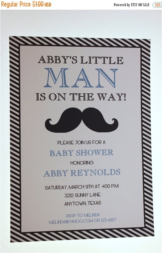 mustache bash custom baby shower invitation 5