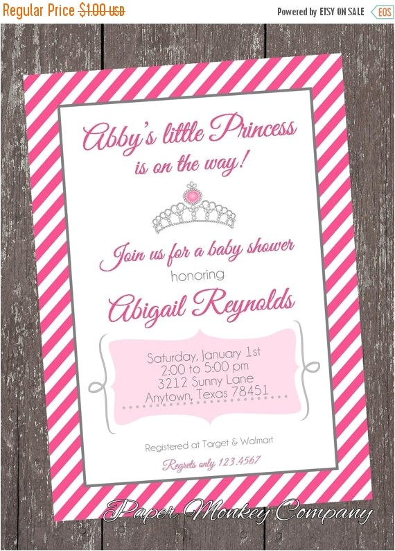 princess baby shower invitations free matching