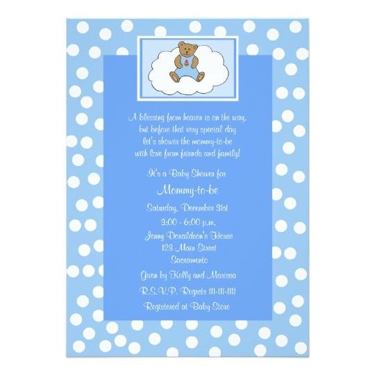christian religious baby shower invitation blue