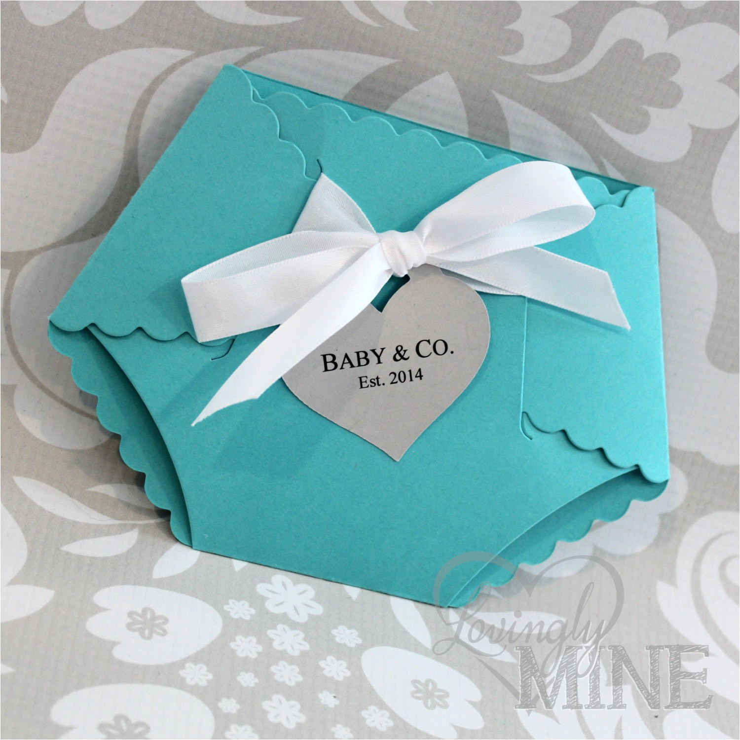 tiffany co inspired diaper shape baby