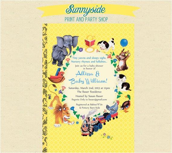 storybook baby shower invites