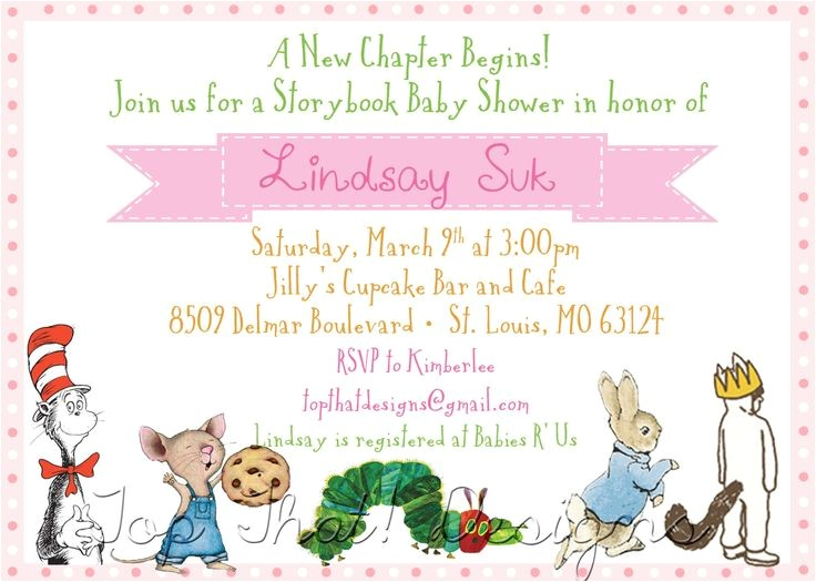 storybook themed baby shower invitations for invitations your baby shower invitation templates by implementing magnificent motif concept 1