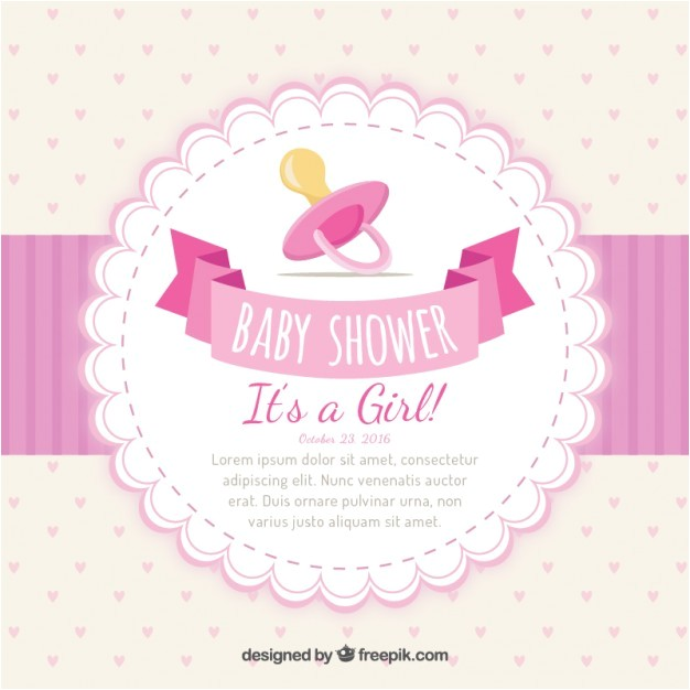 girlish baby shower invitation