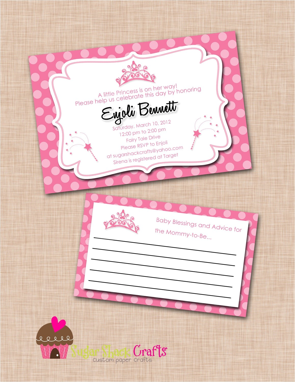 printable princess baby shower invitations walmart