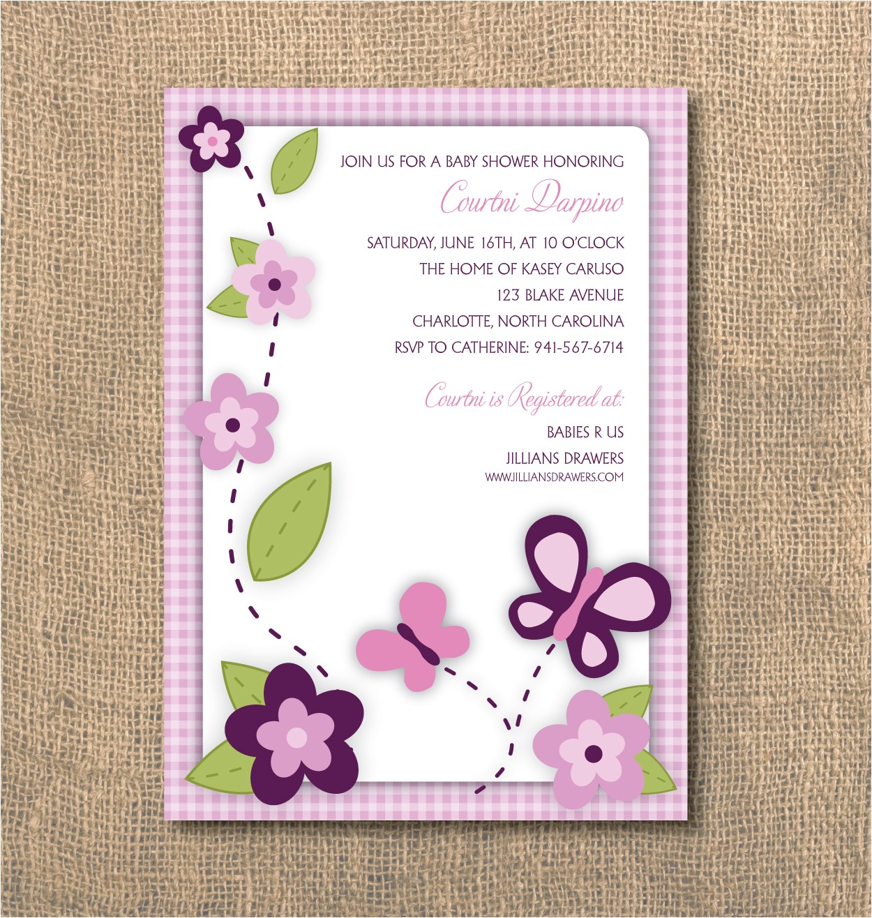 butterfly baby shower invitations templates