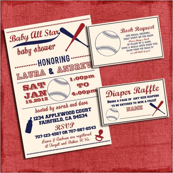 printable baby shower baseball themed invitation