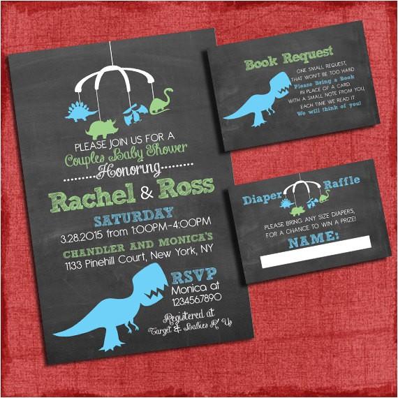 printable dinosaur baby shower invitation invite