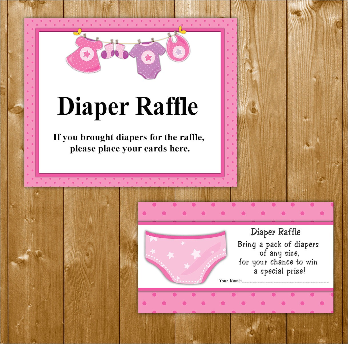 traditional diaper raffle baby shower