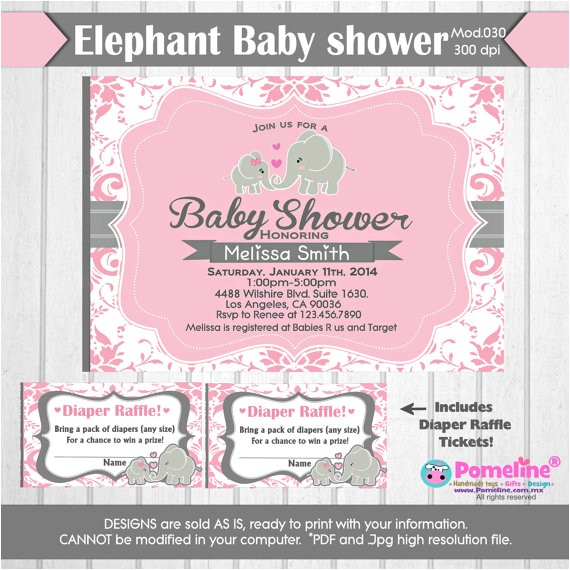 baby shower invite diaper raffle