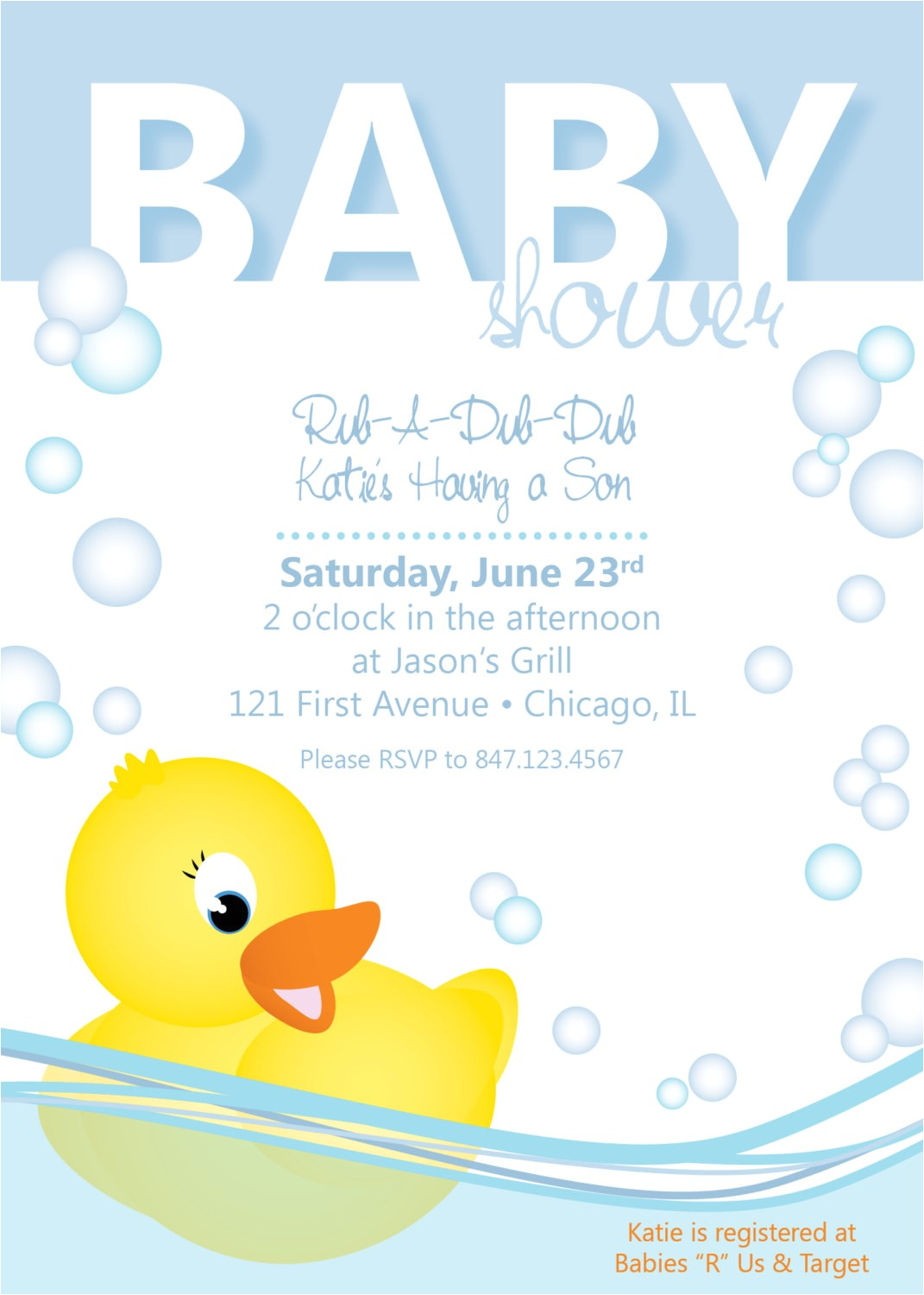 post free printable invitations duck baby shower