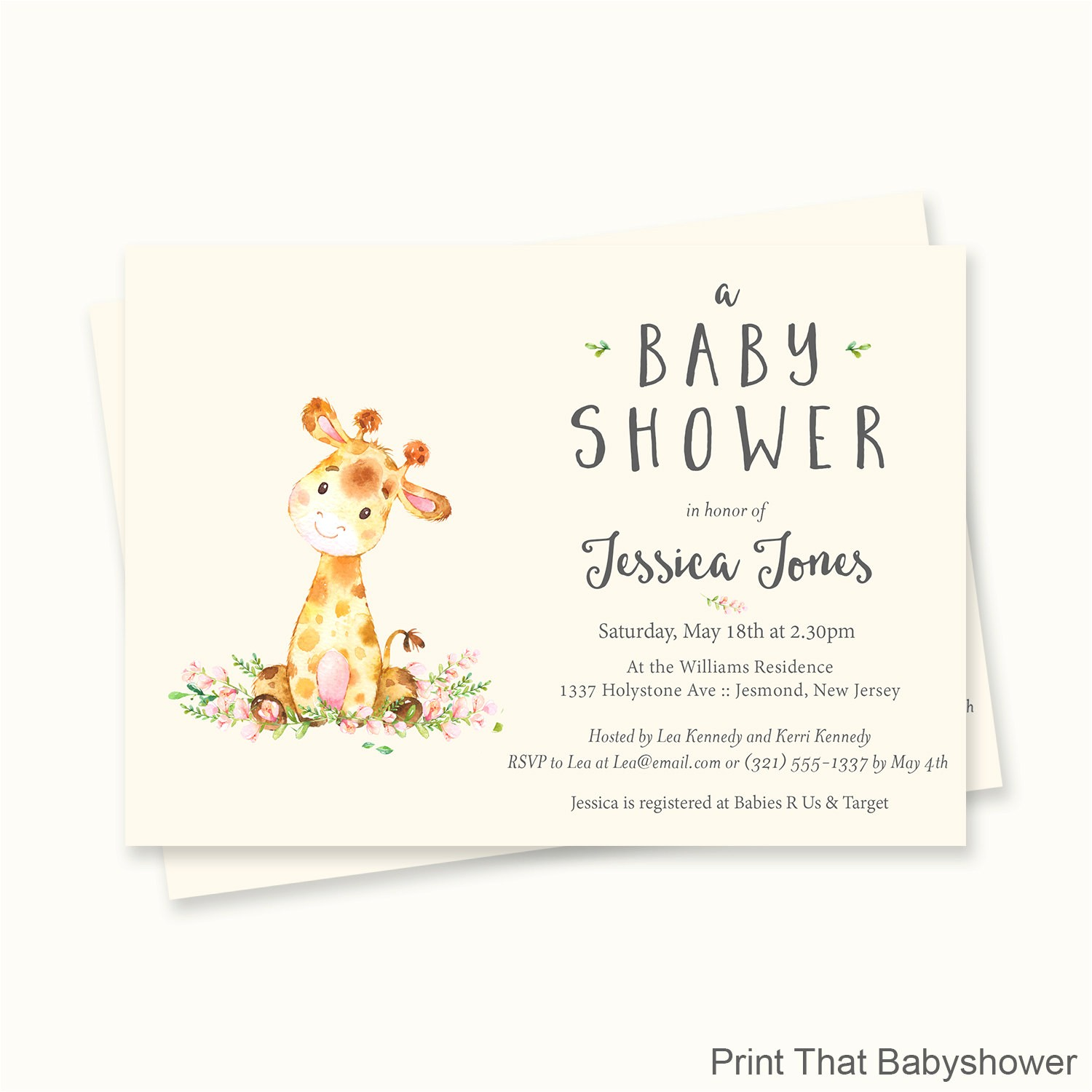 Baby Shower Invitations with Giraffes Giraffe Baby Shower Invitations Giraffe Baby Shower