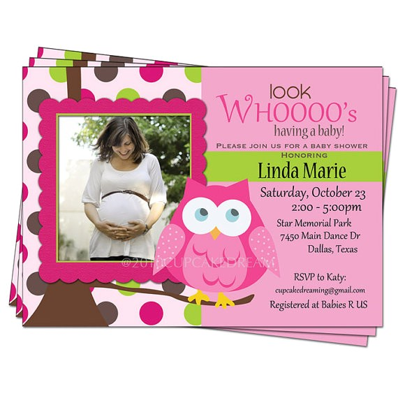 owl themed baby shower invitations template