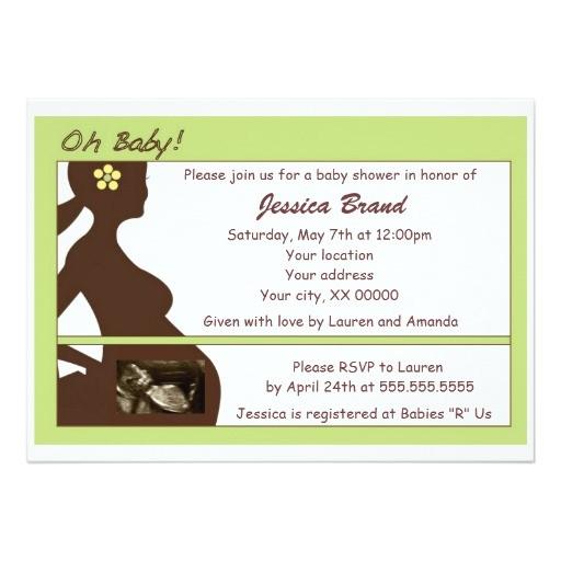 sonogram baby shower invitation
