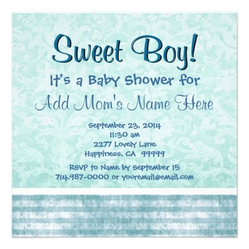 baby shower invitation wording for baby boy