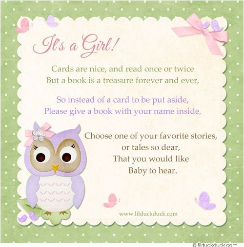 baby shower book instead of card