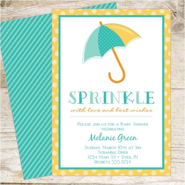 Baby Shower Invite Copy Sprinkle