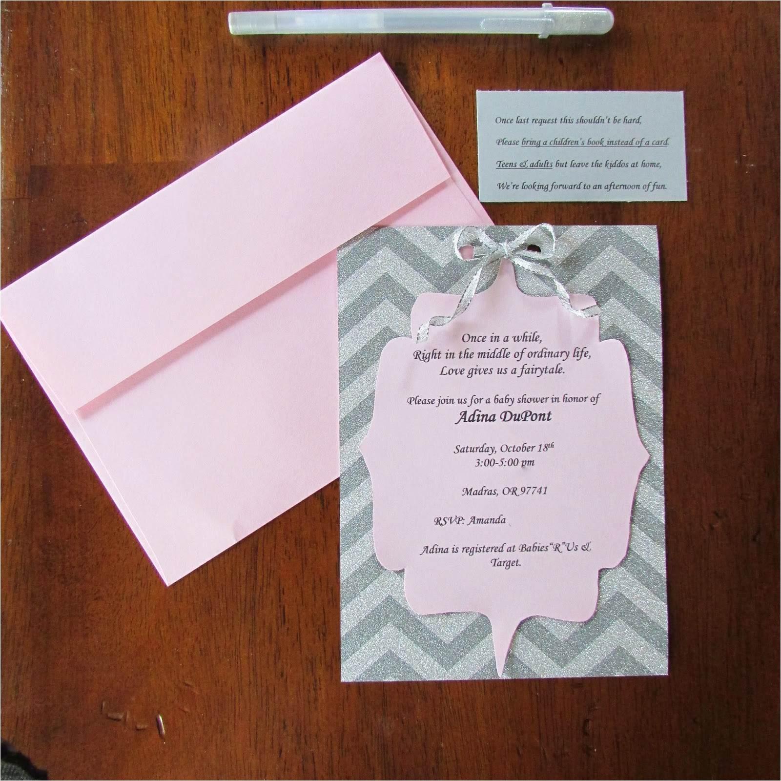 diy invitations baby shower