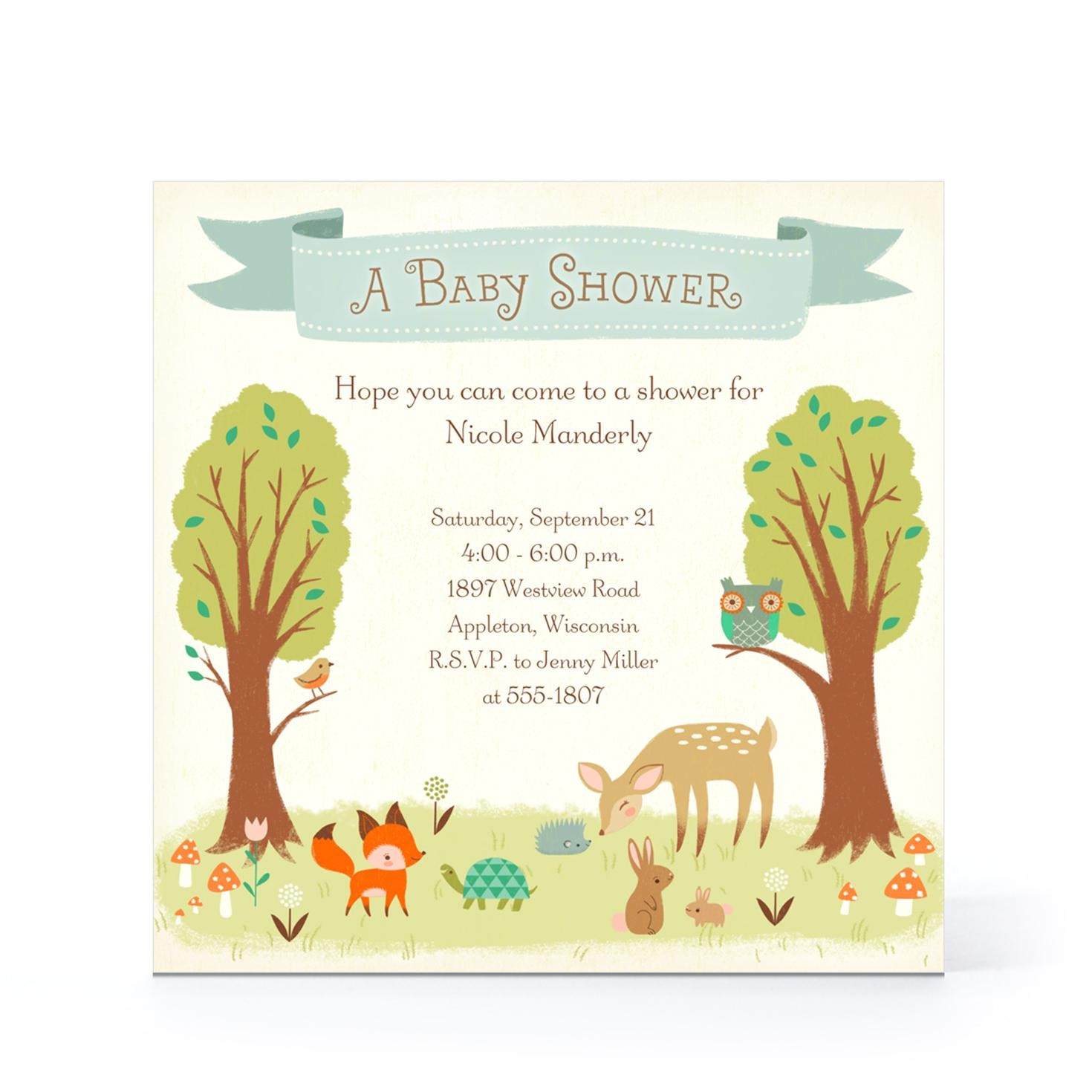 a cute design of baby shower message