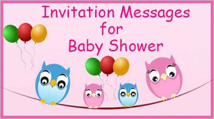 invitation messages for baby shower