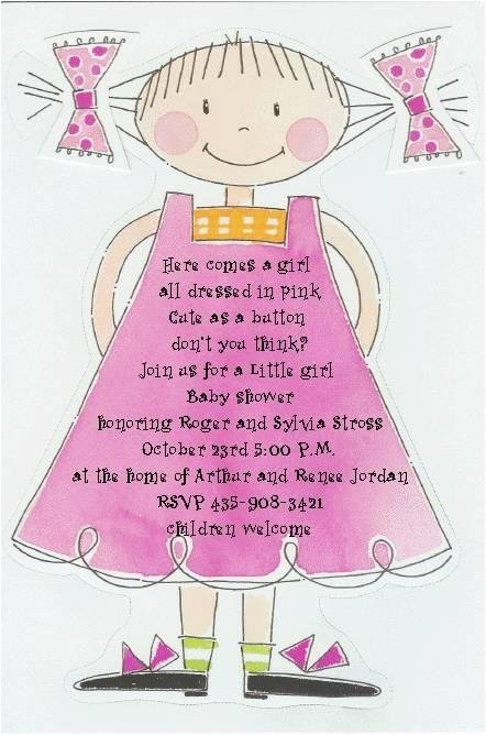 baby girl shower invitations ideas