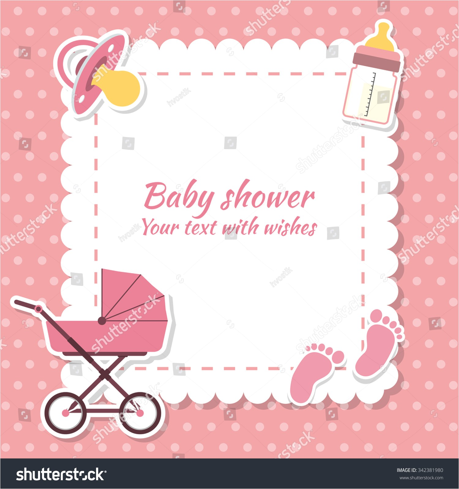 baby shower girl invitation card place
